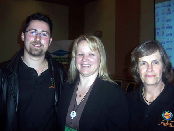 Michael Webb (Interpreter), Jody Saxton and Lesleigh Brennan (Interpreter) at the inaugural Hear, Speak, Live Conference