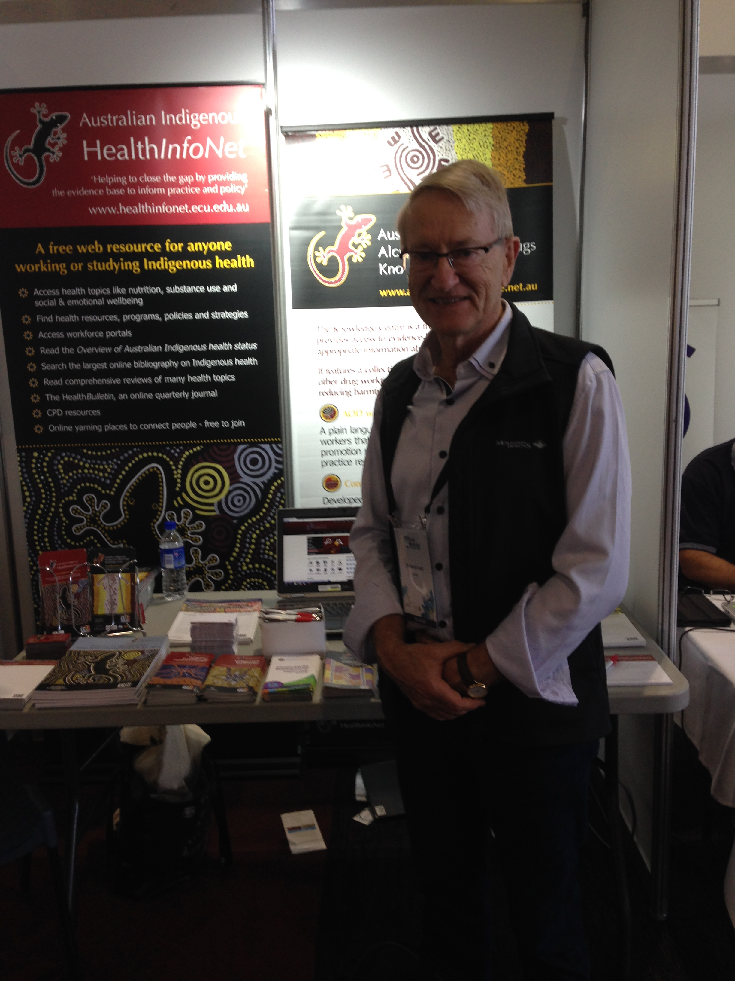 Rural General Practitioner, Dr David J Hunt, at the HealthInfoNet stand