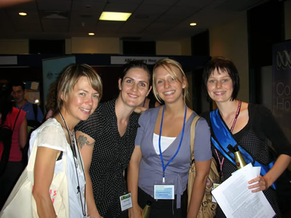 Jessica Kaye, Emma Herrmann, Laura Kindt and Katherine Jarosz (medical students)