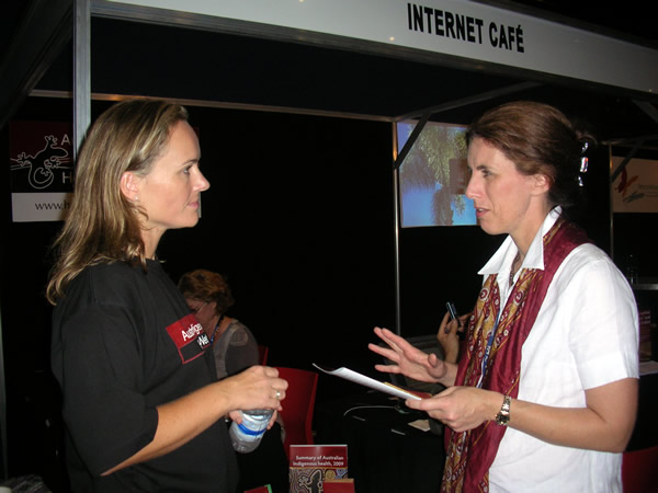 Ineke Krom with Lisa Studdert from Remote Area Health Corps