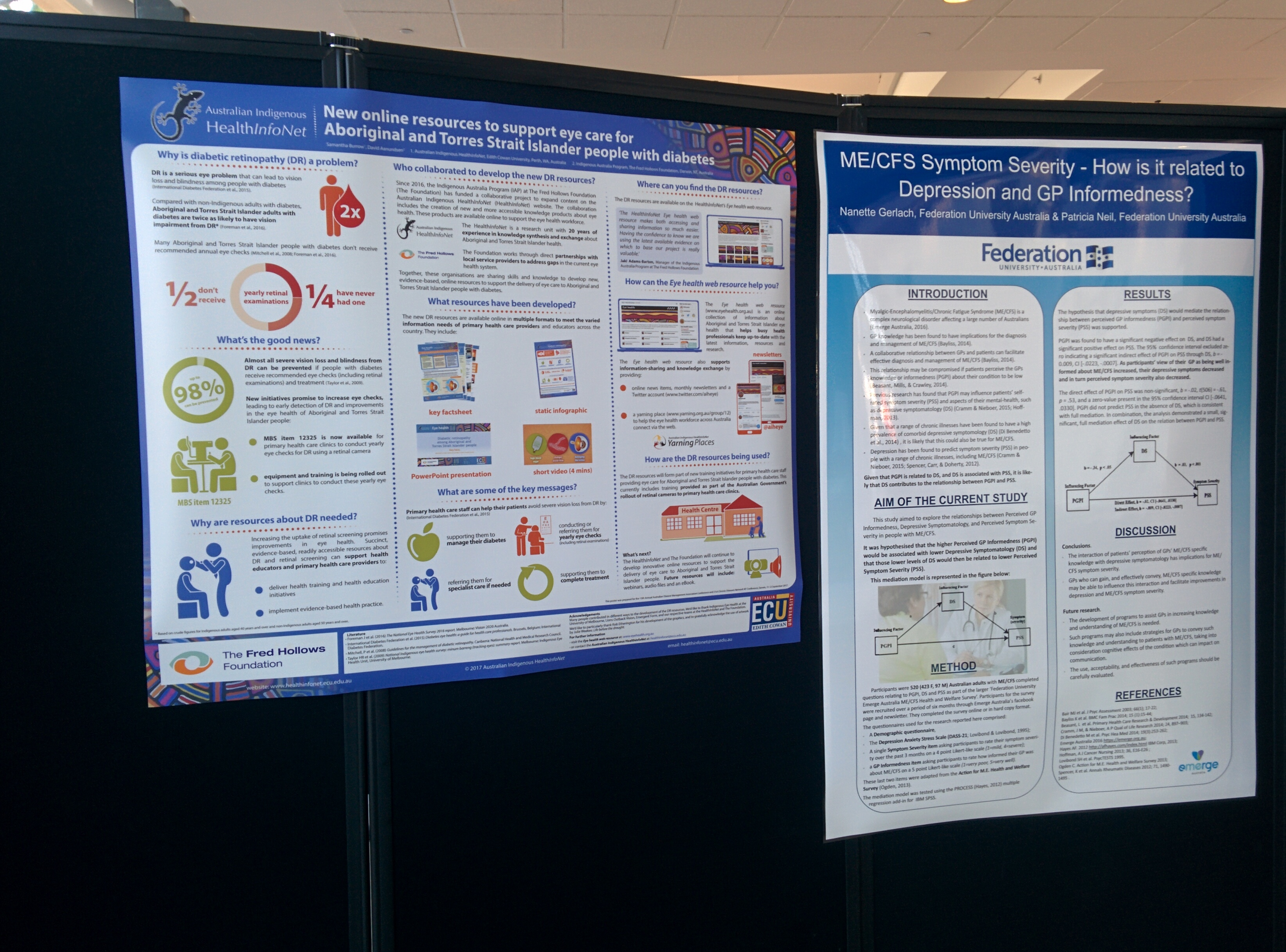 The HealthInfoNet and The Fred Hollows Foundation's conference poster