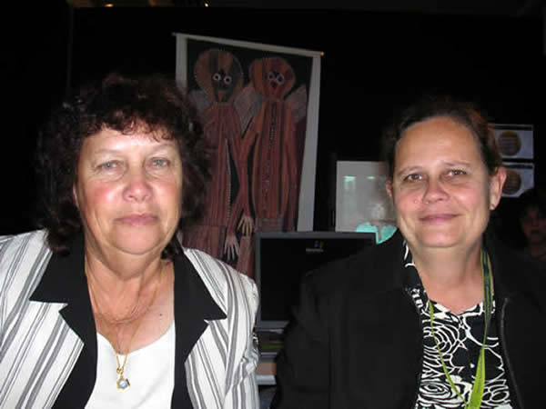 Lorraine Whitby and Laurel Houghton at Western Australian Aboriginal Health Promotion Conference