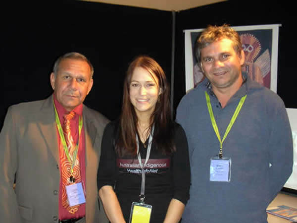 Jerry Morrison, Amy Hardy and Leon Harp at Western Australian Aboriginal Health Promotion Conference