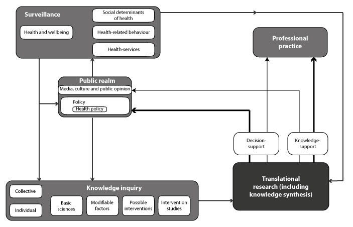 Framework for translational health research at a population level