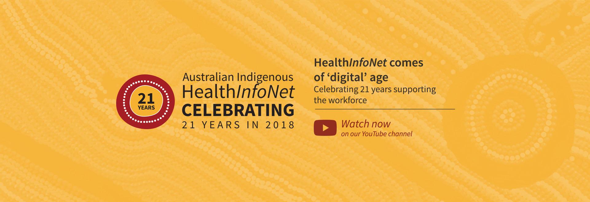 HealthInfoNet - Celebrating 21 years